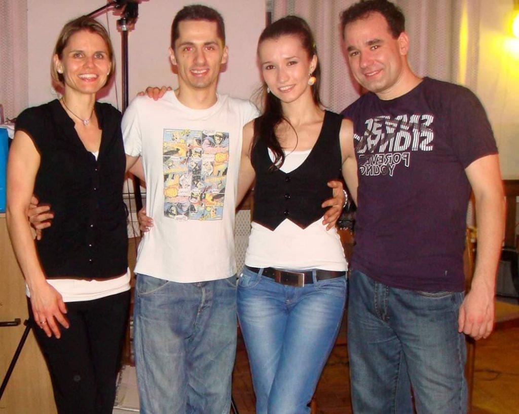 Adam and Rita with friends - Iulia & Alex from Romania