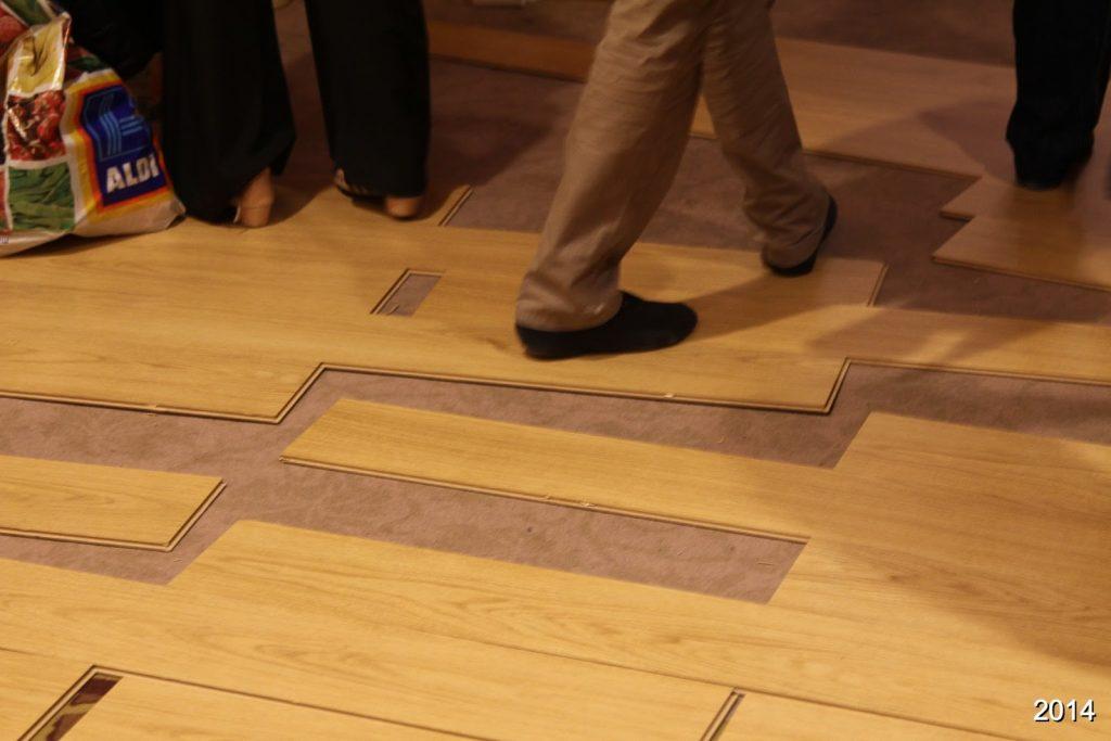 The floor falling apart during Budafest 2014
